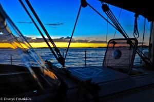 Sunset Gold Coast Cruises bare boat charter yacht over night