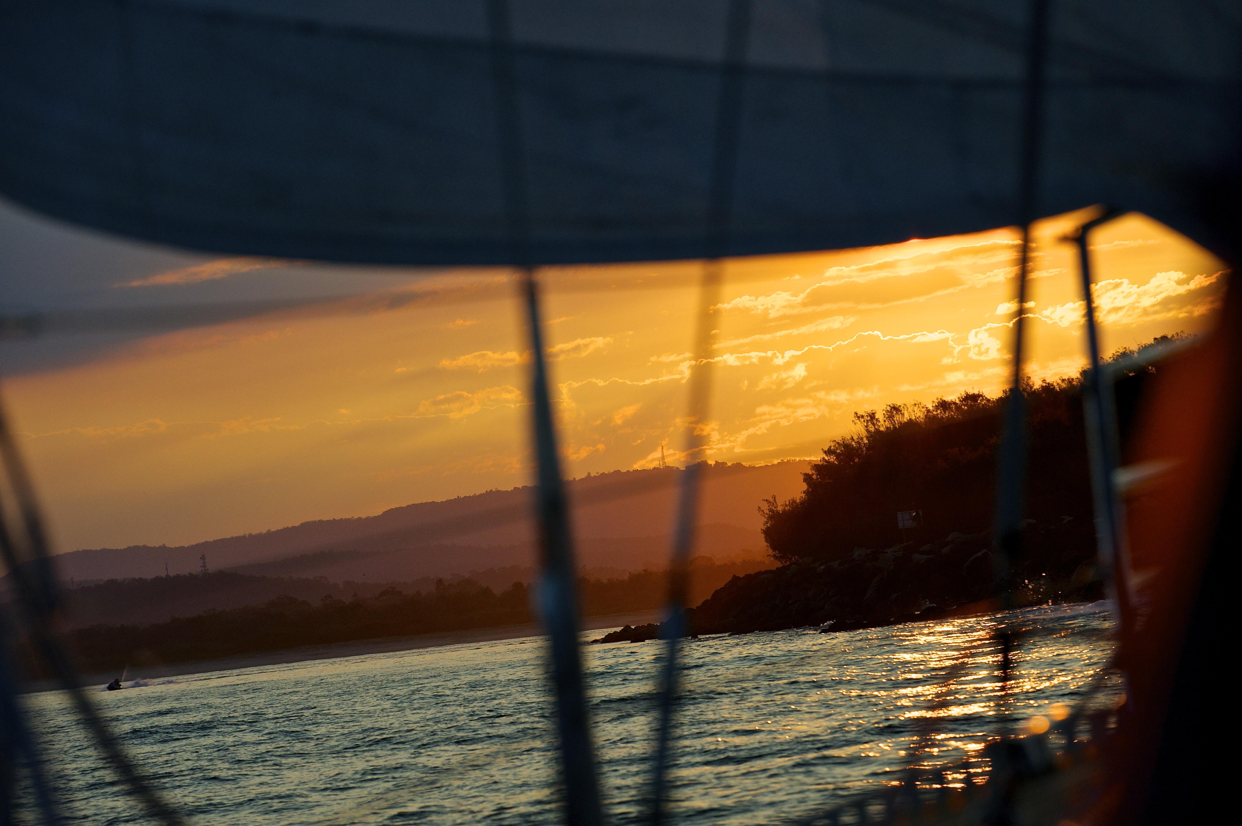 Sailing sunsetcruise gold coast